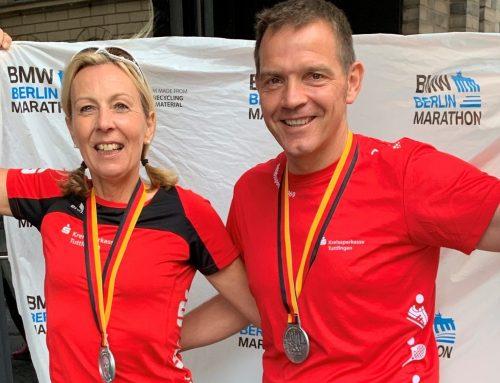 Ute Schneck Altersklassensiegerin beim Berlin Marathon