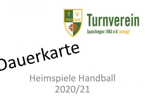 Info für Dauerkartenbesitzer Handball