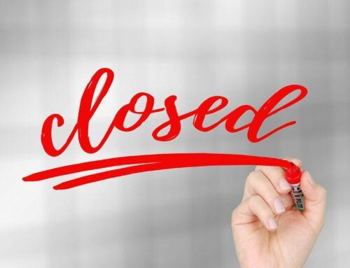 Geschäftsstelle bis voraussichtlich 31. Januar 2021 geschlossen