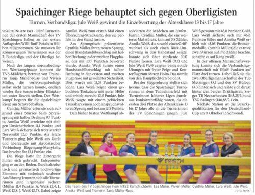 1. Verbandsligamannschaft Spaichingen